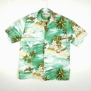 Hilo Hattie Mens Size XL Shirt Palm Trees ButtonUp